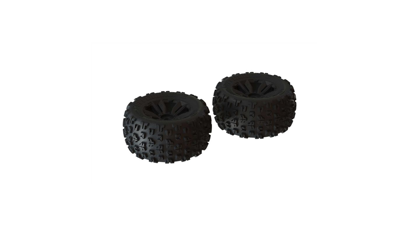 Image for 1/8 dBoots Copperhead2 MT Front/Rear 3.8 Pre-Mounted Tires, 17mm Hex, Black (2) from HorizonHobby