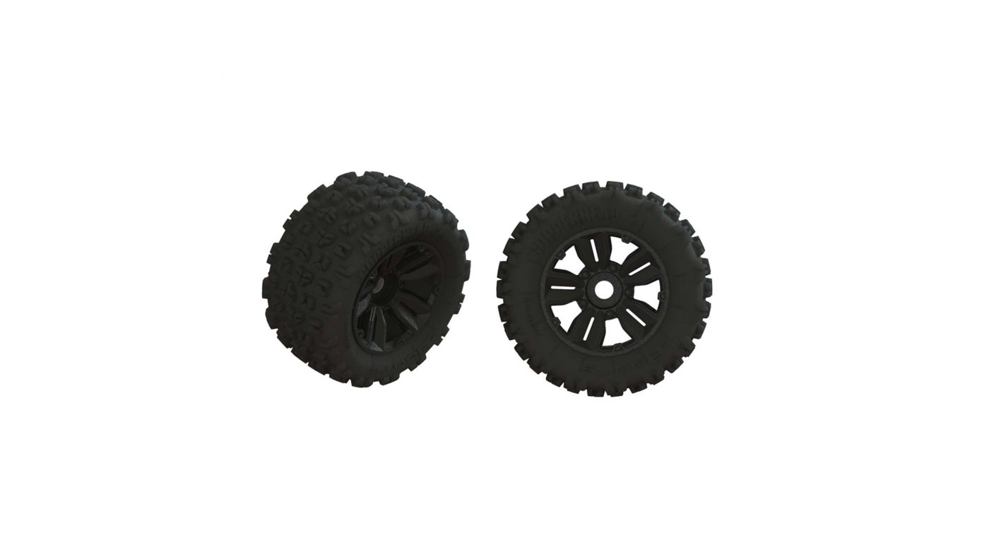Image for 1/5 dBoots Copperhead2 SB MT Front/Rear 3.8 Pre-Mounted Tires, 17mm Hex (2) from HorizonHobby