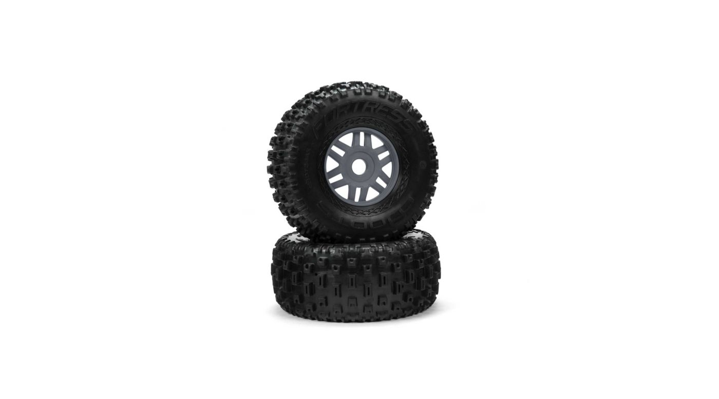 Image for dBoots Fortress Glued Tire Set, Gunmetal (F/R) from HorizonHobby
