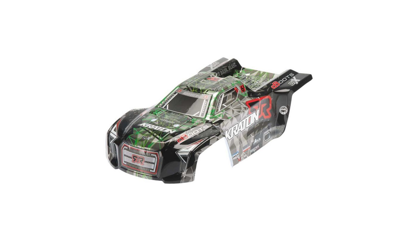 Image for Body Green/Black: Kraton 6S Painted II from HorizonHobby