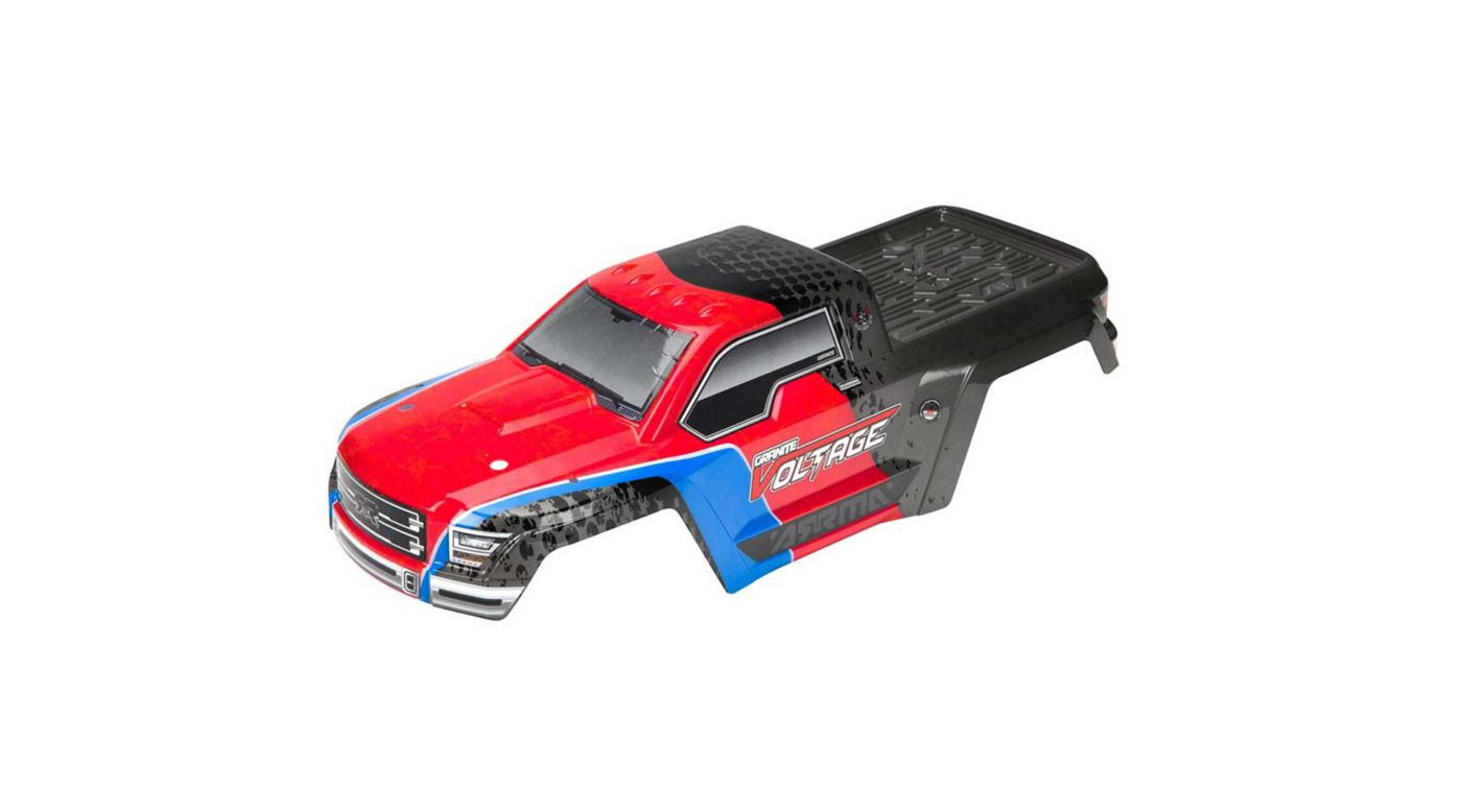 Image for Painted Body with Decals, Red/Black: Granite Voltage from HorizonHobby