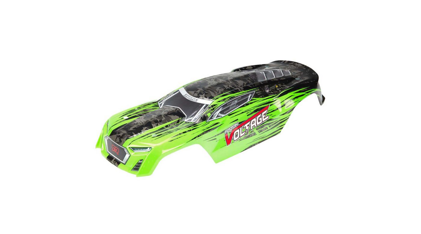 Image for Painted Body with Decals, Green/Black: Fazon Voltage from HorizonHobby