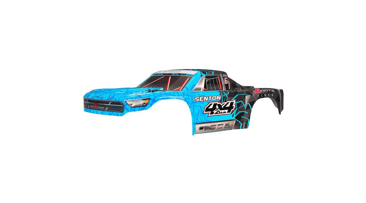 Image for Body Painted Decal Trim Blue: Senton 4x4 Mega from HorizonHobby