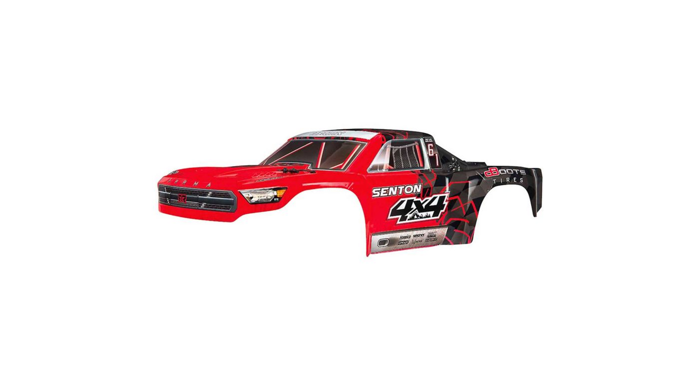 Image for Body Painted Decal Trim Red: Senton 4x4 Mega from HorizonHobby