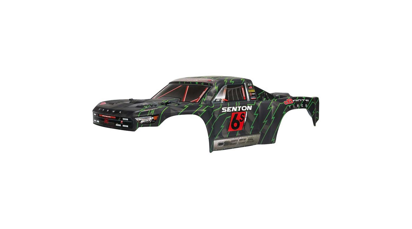 Image for Painted Body, Black/Green: Senton 6S BLX from HorizonHobby
