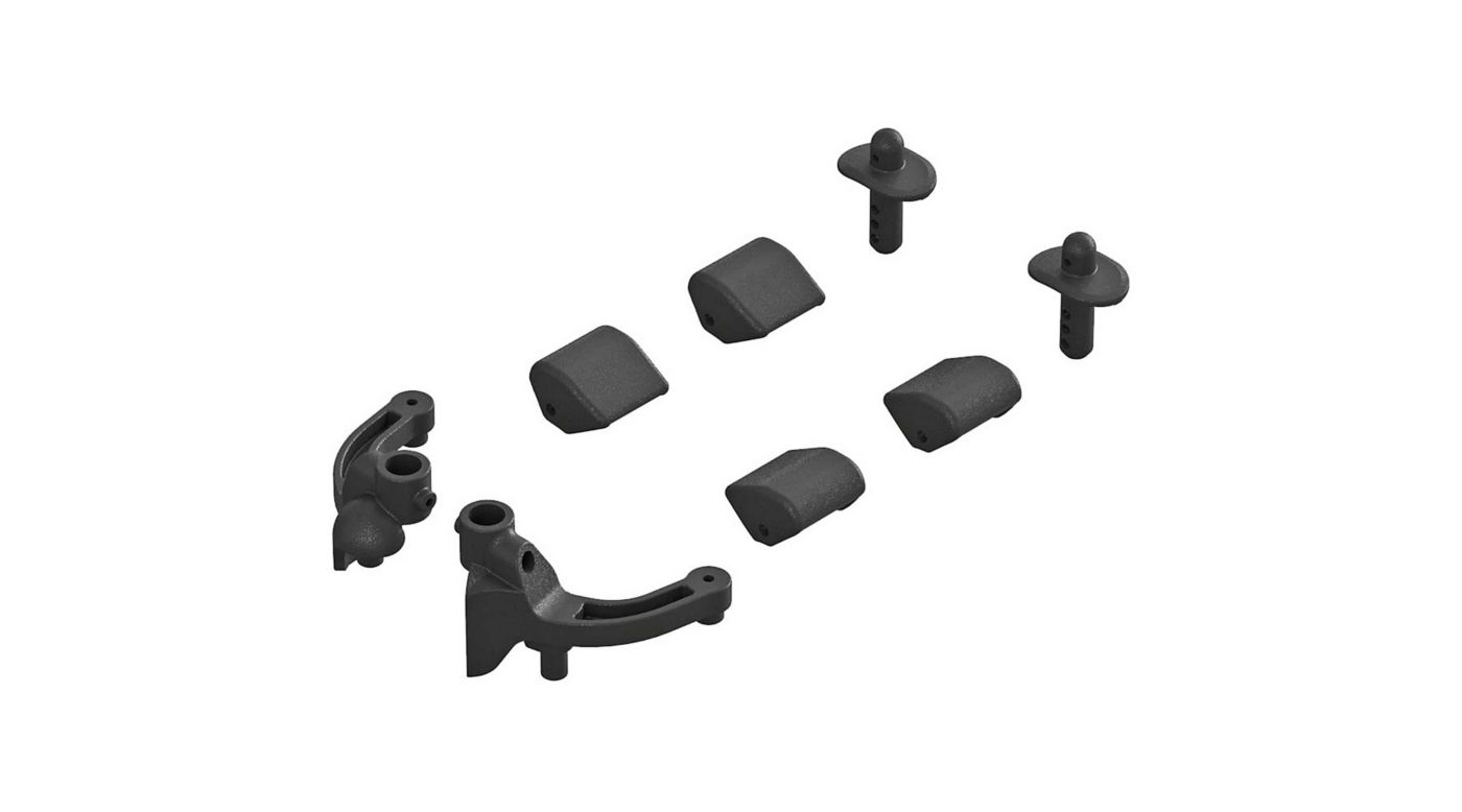 Image for Body Mount Set Front: Typhon 4x4 from HorizonHobby