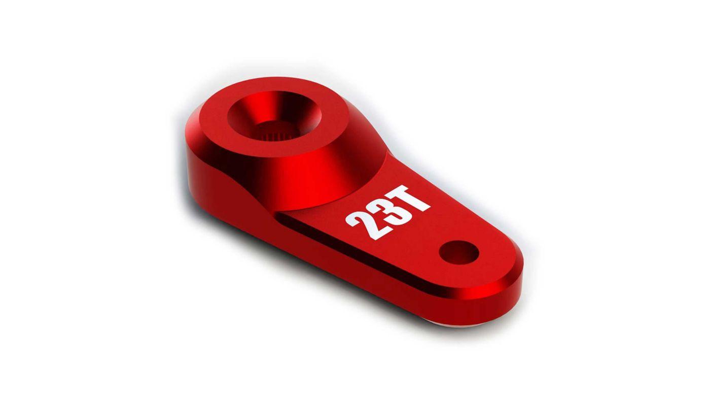 Image for Servo Horn Metal 23T Aluminum Red from HorizonHobby