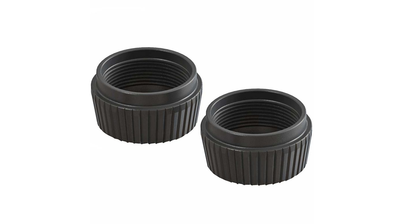 Image for Shock Cap Lower Aluminum, Black (2): 6S from Horizon Hobby