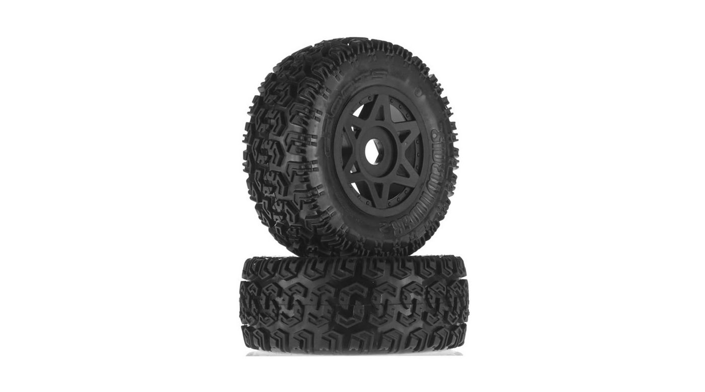 Image for 1/10 dBoots Sidewinder 2 Front/Rear 2.2/3.0 Pre-Mounted Tires, 17mm Hex, Black (2): 6S from HorizonHobby