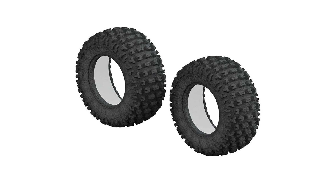Image for 1/10 dBoots Fortress Short Course Front/Rear 3.0/2.2 Tire & Inserts (2) from HorizonHobby