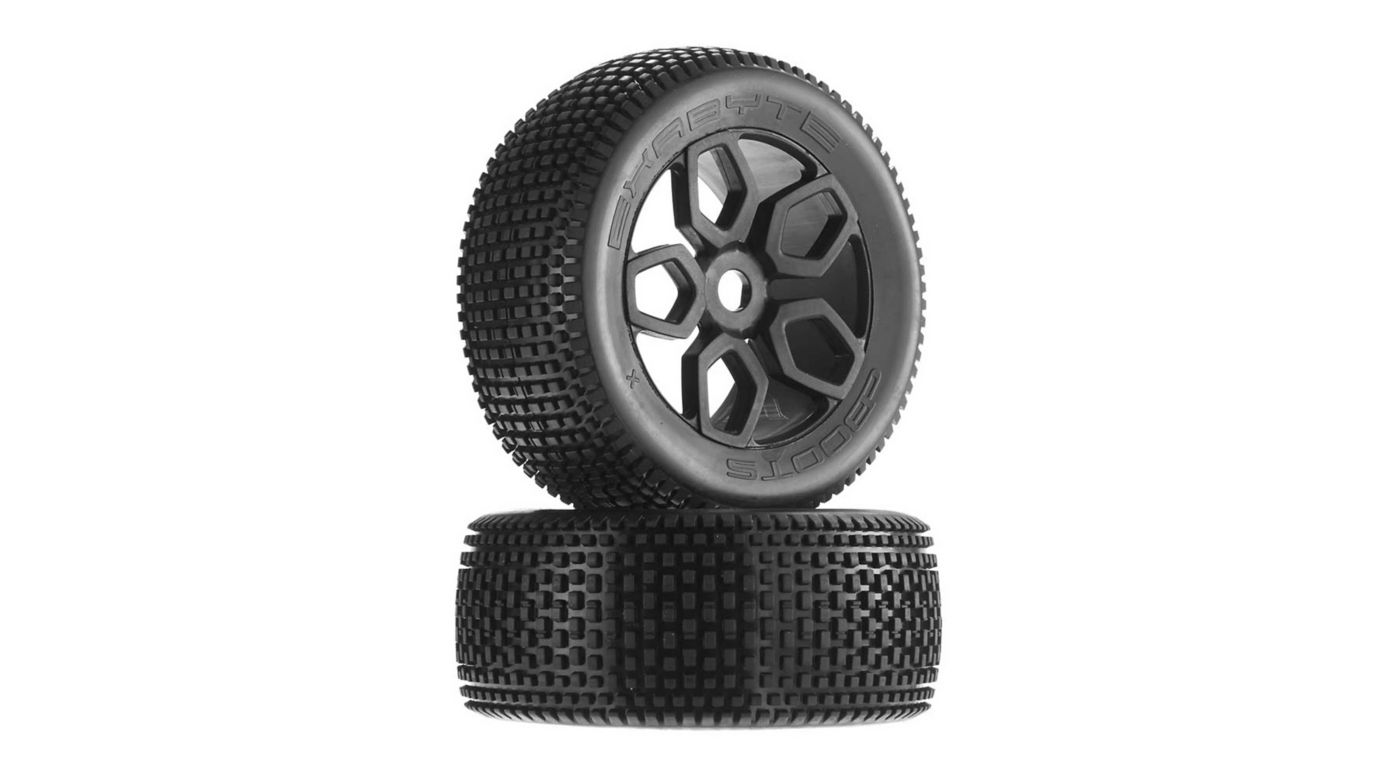 Image for 1/8 Exabyte NT Truggy Front/Rear 3.8 Pre-Mounted Tires, 17mm Hex (2) from HorizonHobby