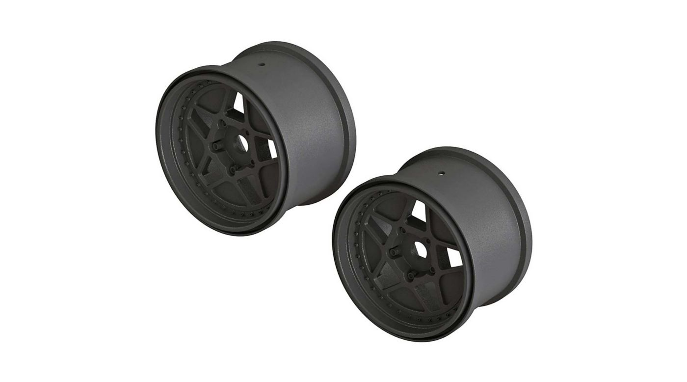 Image for 1/10 MT Front/Rear 3.8 Wheels, 17mm Hex, Black (2): Outcast 4x4 from HorizonHobby