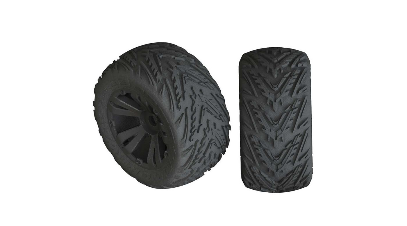 Image for 1/10 dBoots Minokawa LP Front/Rear 3.8 Pre-Mounted Tires, 17mm Hex, Black (2): 4S from HorizonHobby