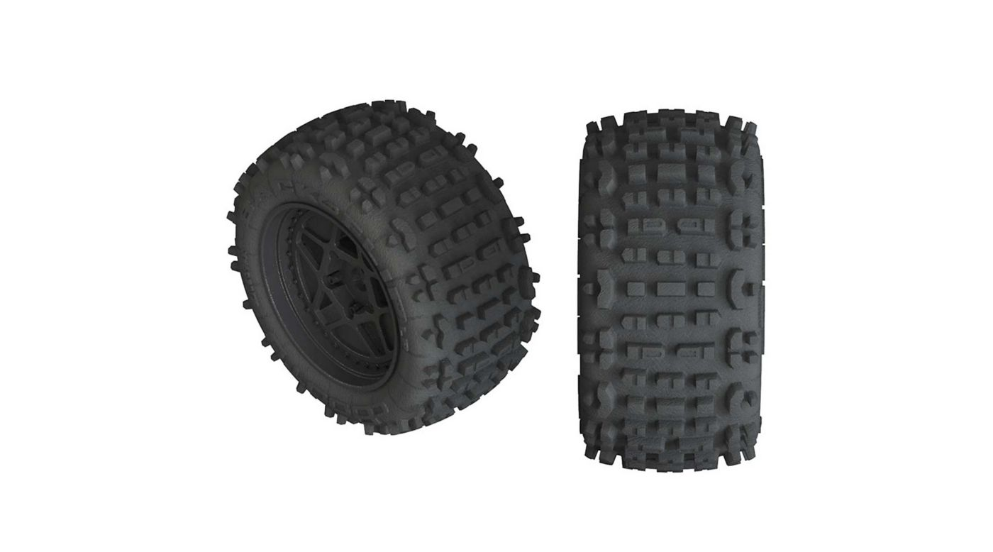 Image for dBoots Backflip LP 4S Tire 3.8 Glued, Black (2) from HorizonHobby