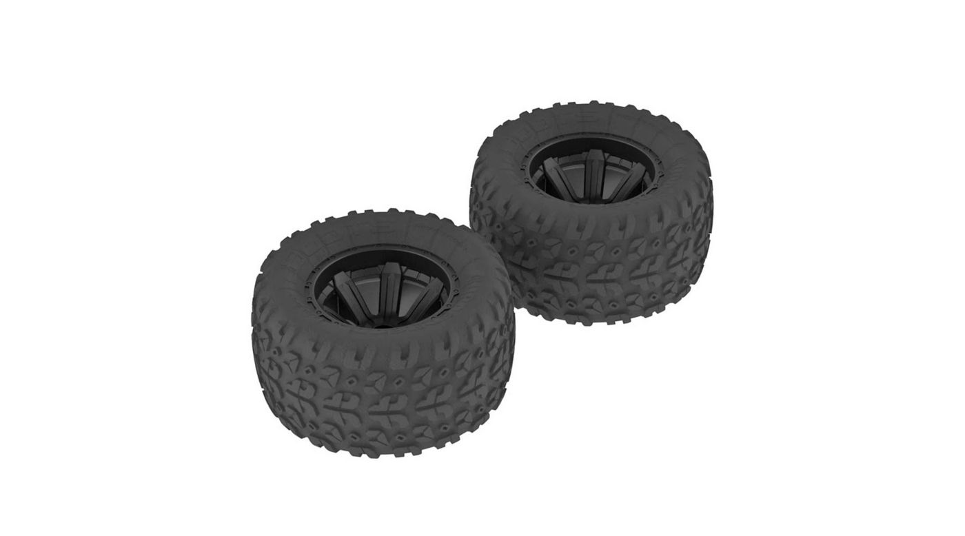 Image for 1/10 Copperhead MT Front/Rear 2.2/3.0 Pre-Mounted Tires, 12mm Hex, Black (2) from HorizonHobby