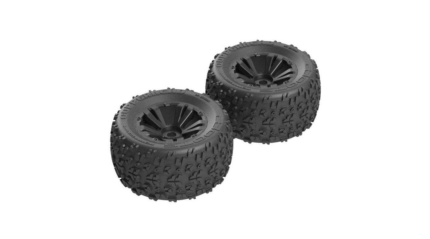 Image for Copperhead MT 6S Tire Wheel Glued Black (2) from HorizonHobby