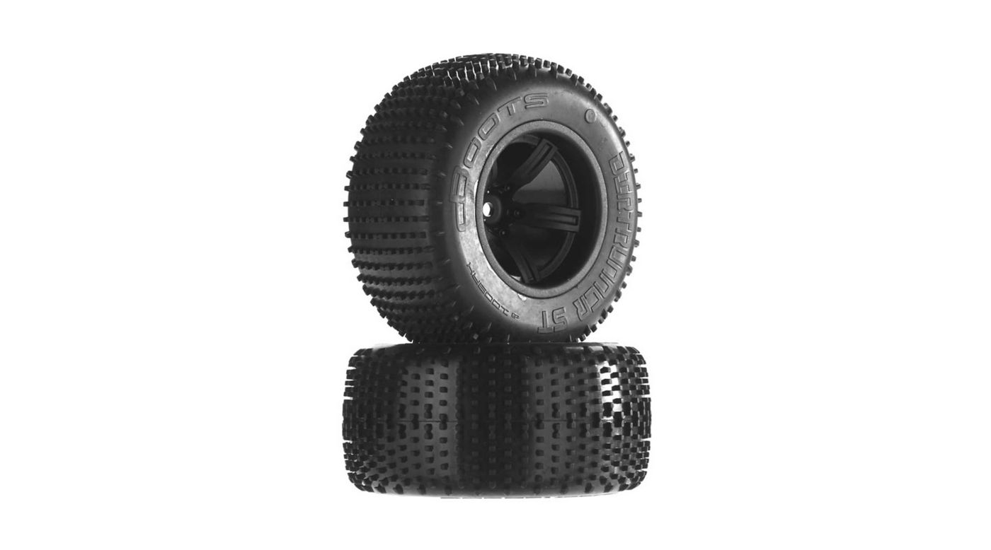 Image for 1/10 Dirtrunner ST Rear 2.2/3.0 Pre-Mounted Tires, 12mm Hex, Black (2) from HorizonHobby
