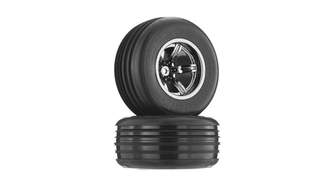 Image for 1/10 Dirtrunner ST Front 2.2/3.0 Pre-Mounted Tires, 12mm Hex, Black Chrome (2) from HorizonHobby