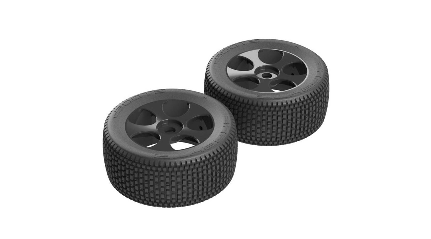 Image for Exabyte TRGY 6S Tire Wheel Glued Black (2) from HorizonHobby