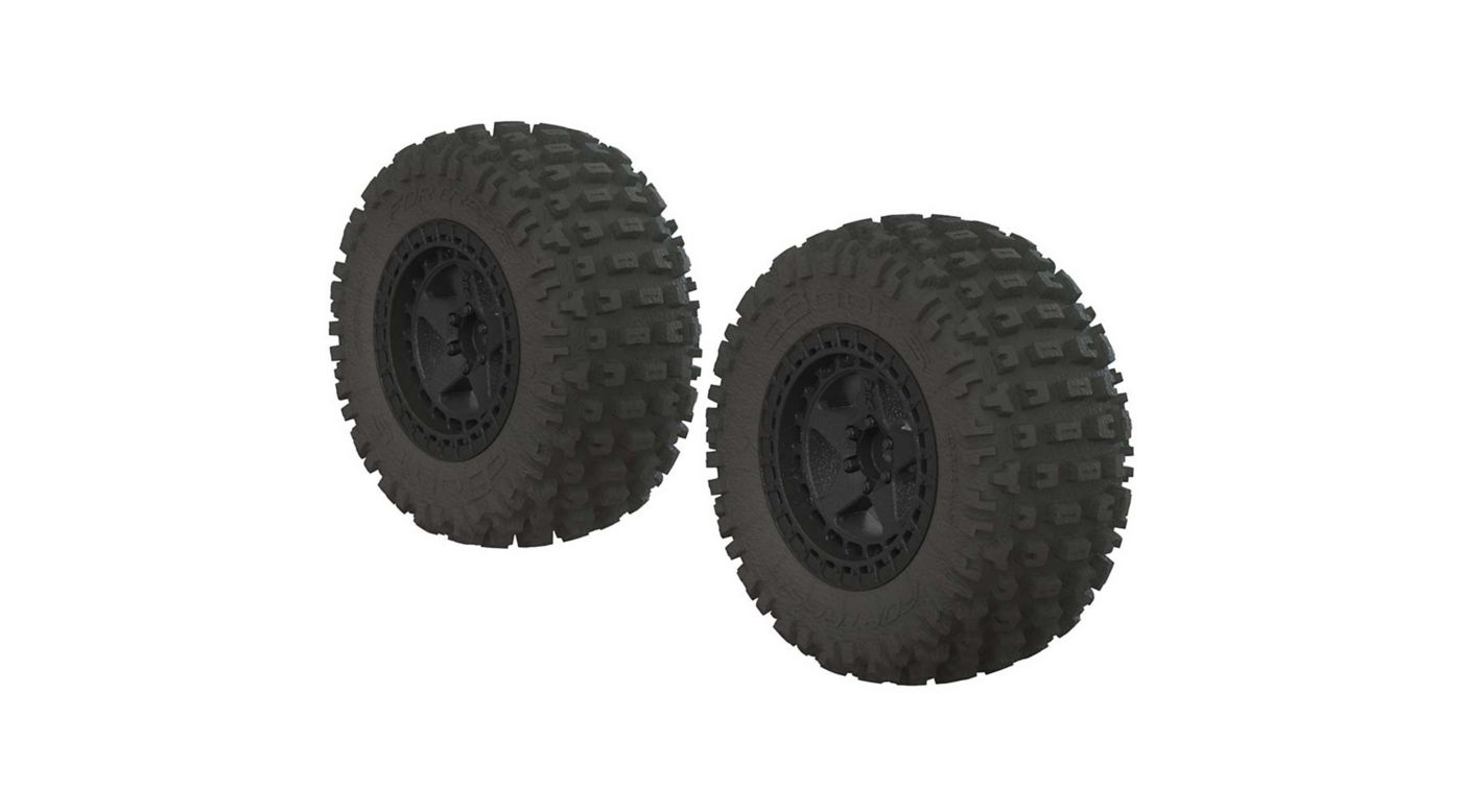 Image for 1/10 dBoots Fortress SC 2.2/3.0 Pre-Mounted Tires, 14mm Hex, Black (2) from HorizonHobby
