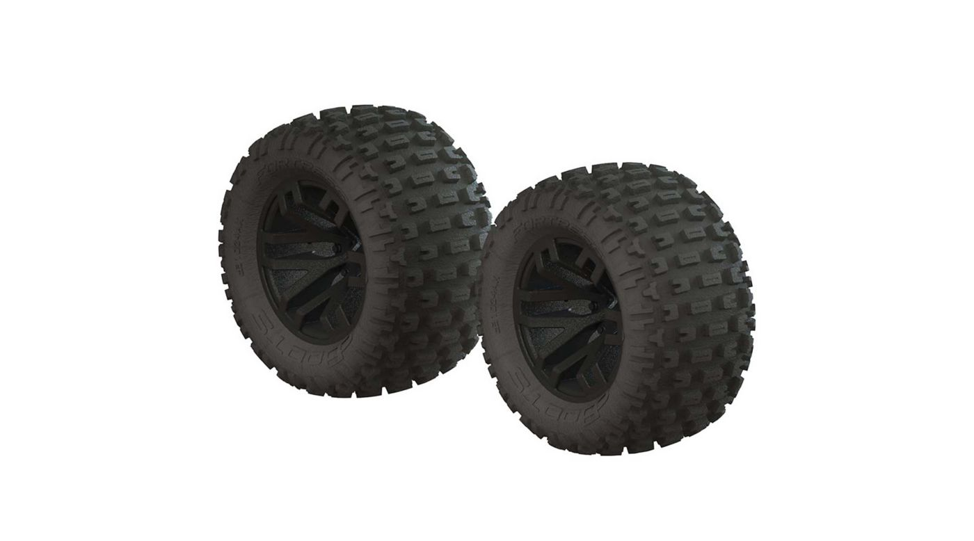 Image for 1/10 dBoots Fortress MT 2.2/3.0 Pre-Mounted Tires, 14mm Hex, Black (2) from HorizonHobby