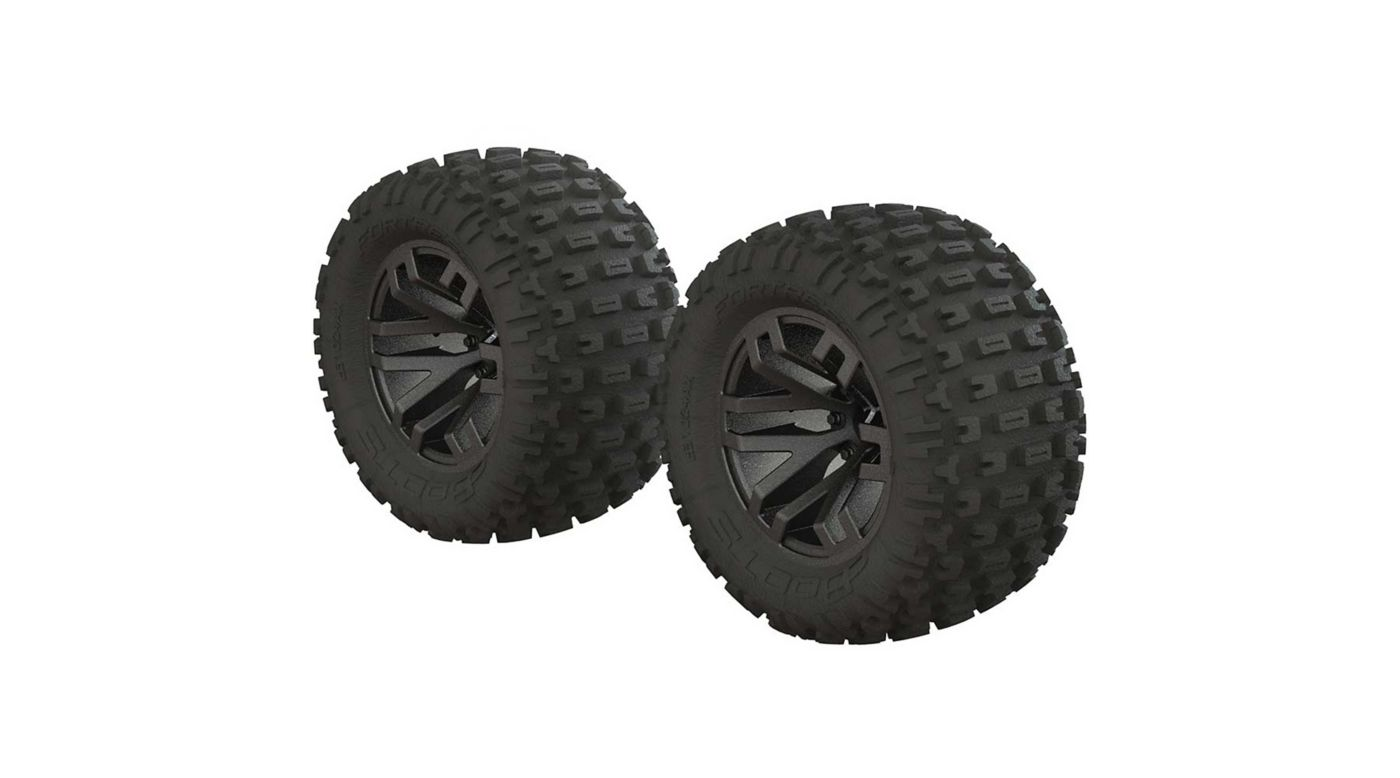 Image for dBoots Fortress MT Tire Set Glued Black Chrome (2) from HorizonHobby