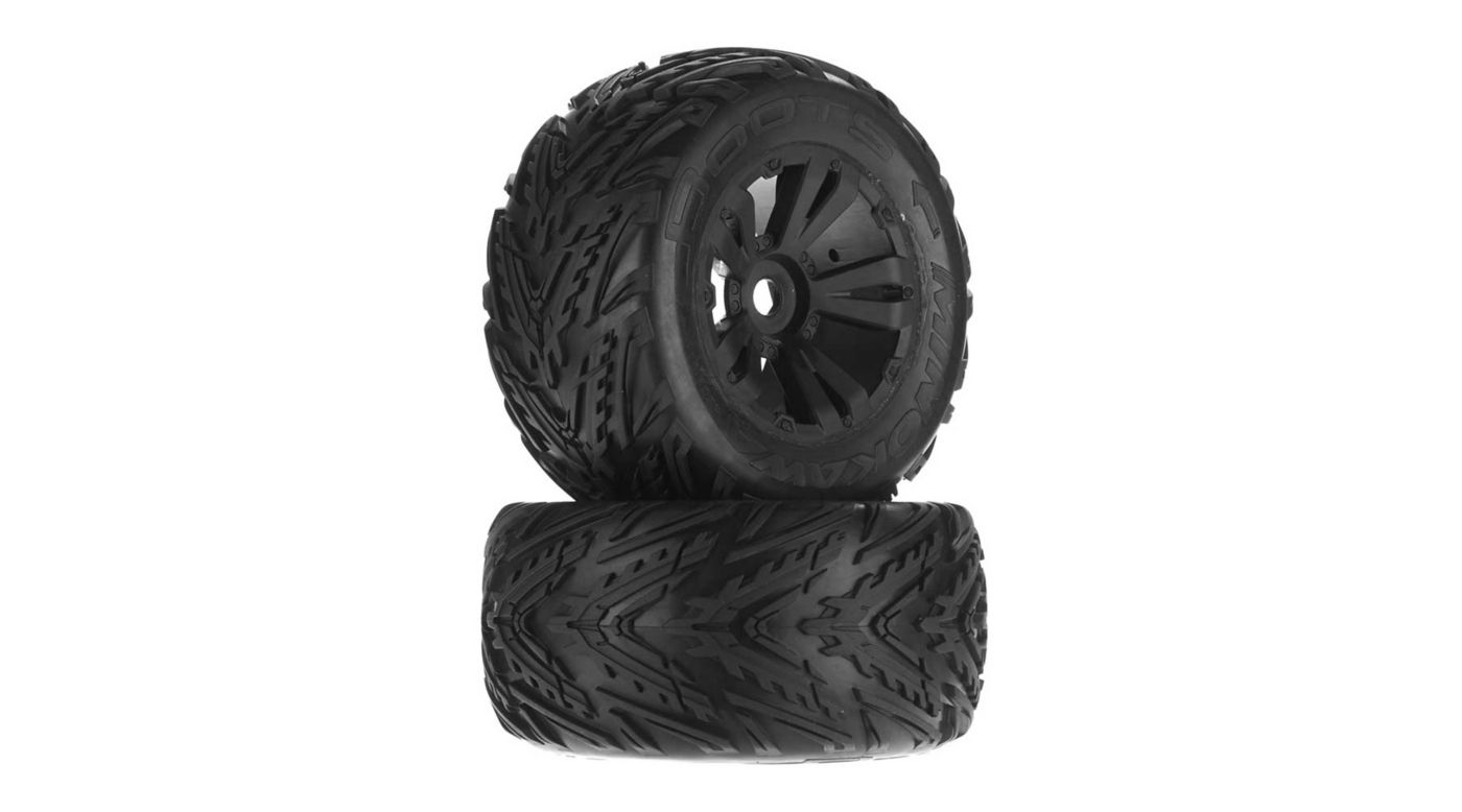 Image for Minokawa MT 6S Tire Wheel Glued Black (2) from HorizonHobby