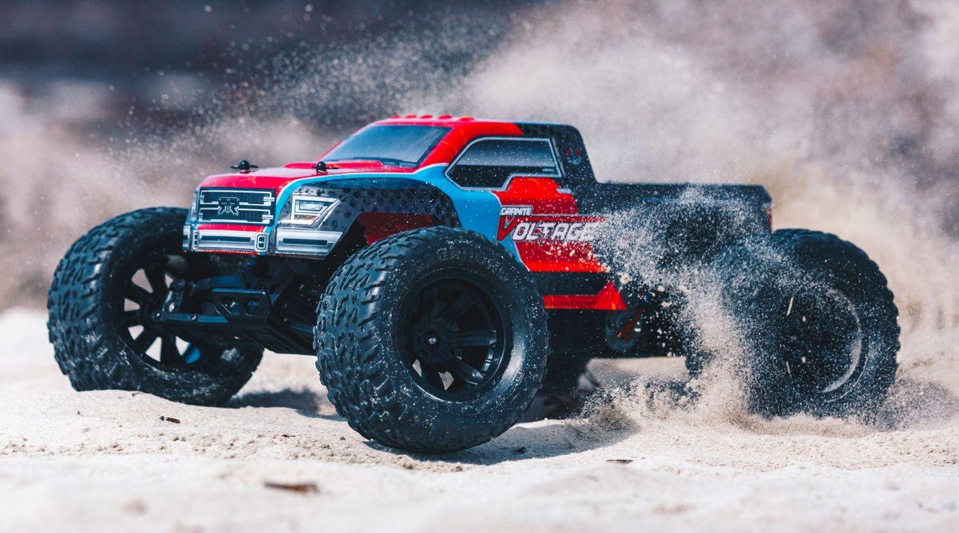 Image for 1/10 GRANITE VOLTAGE 2WD Brushed Mega Monster Truck RTR, Red/Black from HorizonHobby