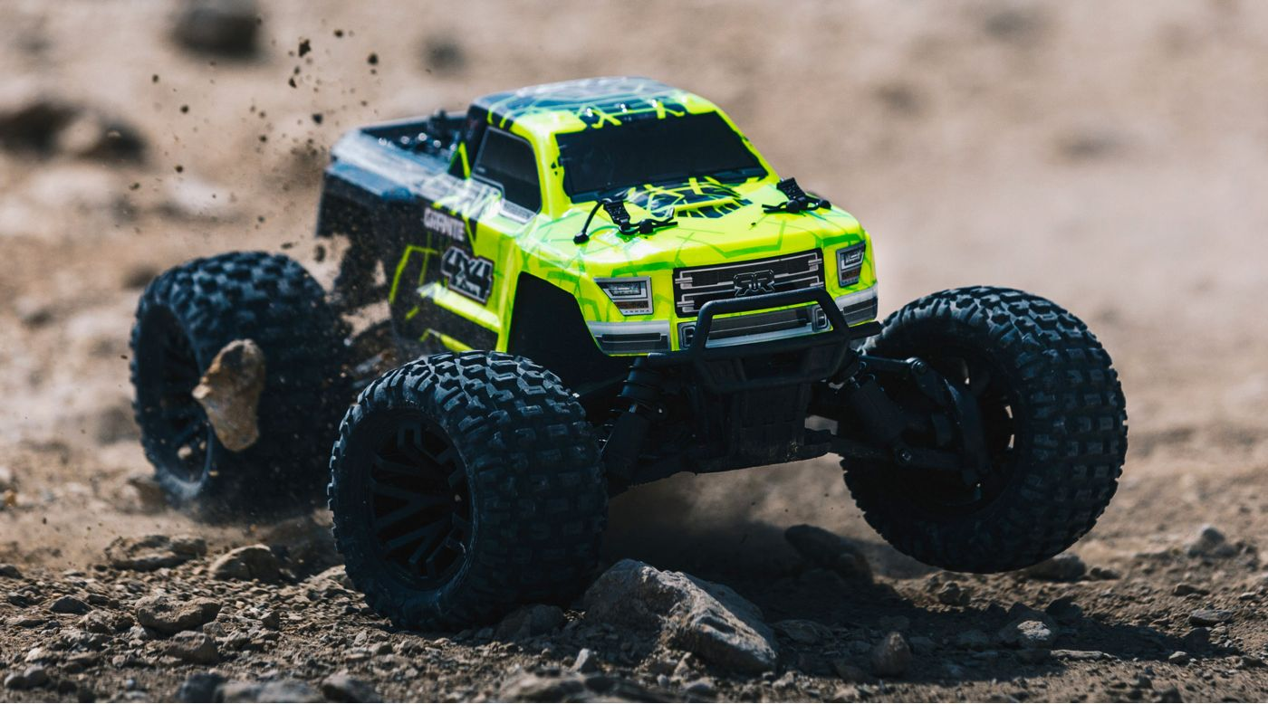 Image for 1/10 GRANITE 4WD Brushed Mega Monster Truck RTR, Green/Black from HorizonHobby