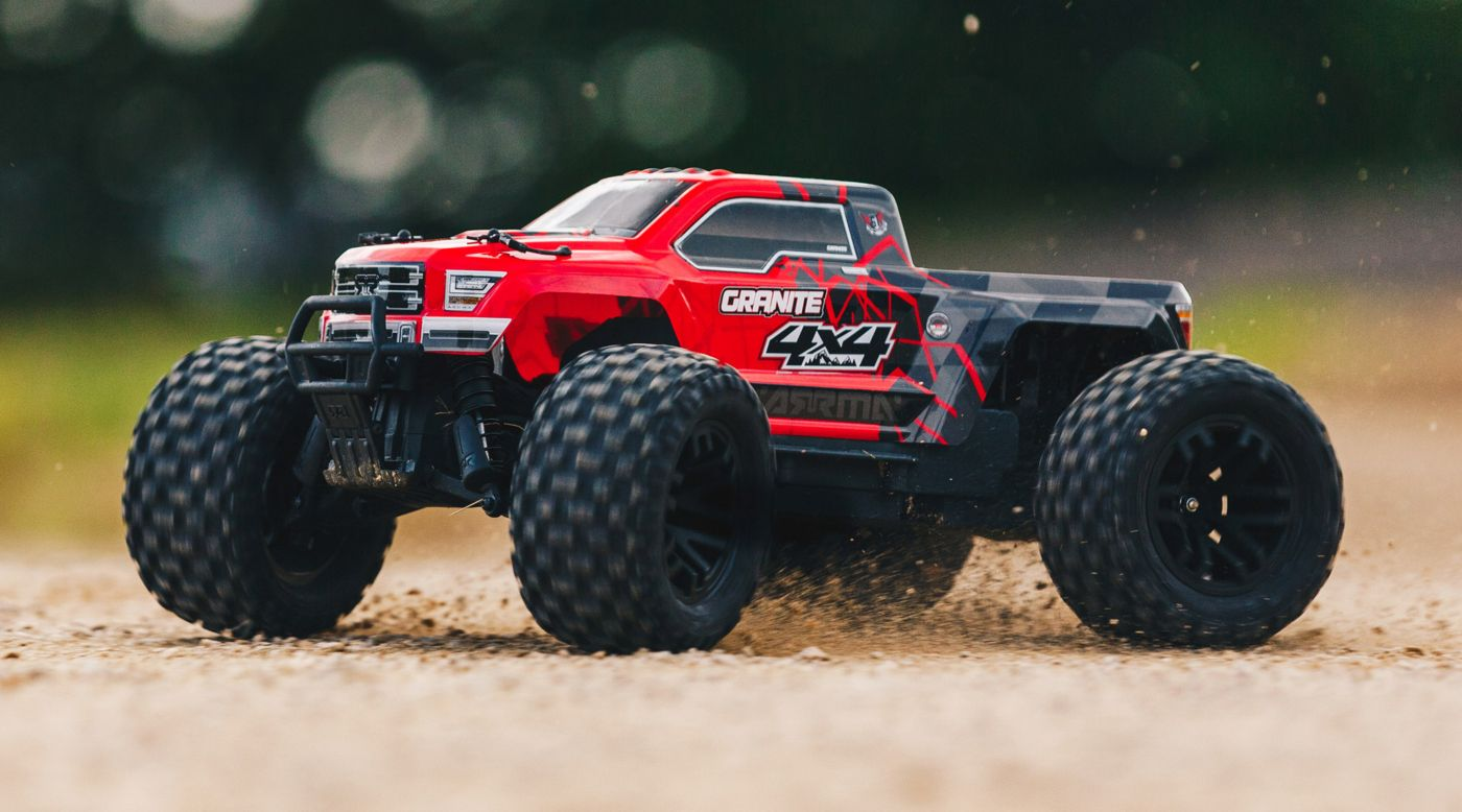 Image for 1/10 GRANITE 4WD Brushed Mega Monster Truck RTR, Red/Black from HorizonHobby