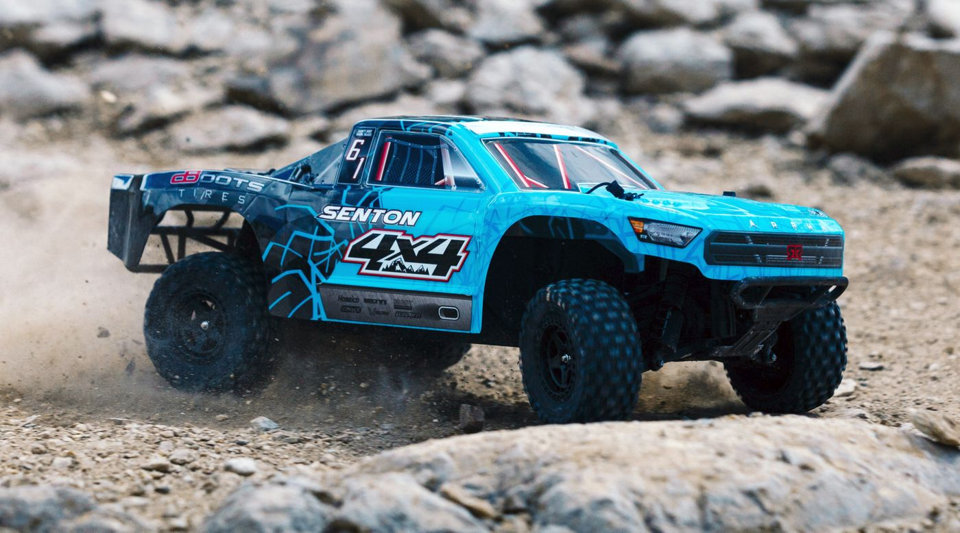 Image for 1/10 SENTON 4WD Brushed Mega Short Course Truck RTR, Blue/Black from HorizonHobby