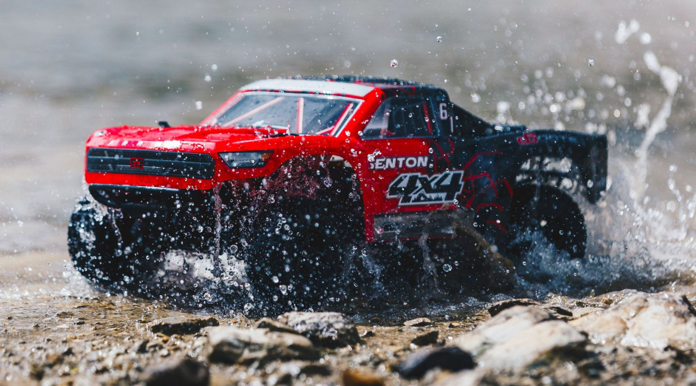 Image for 1/10 SENTON 4WD Brushed Mega Short Course Truck RTR, Red/Black from HorizonHobby