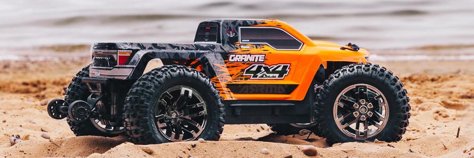 ARRMA 1/10 Granite 4x4 BLX Monster Truck RTR, naranja / negro