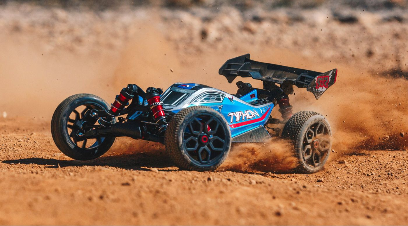 Image for 1/8 TYPHON 6S BLX 4WD Brushless Buggy RTR, Blue/Silver from HorizonHobby