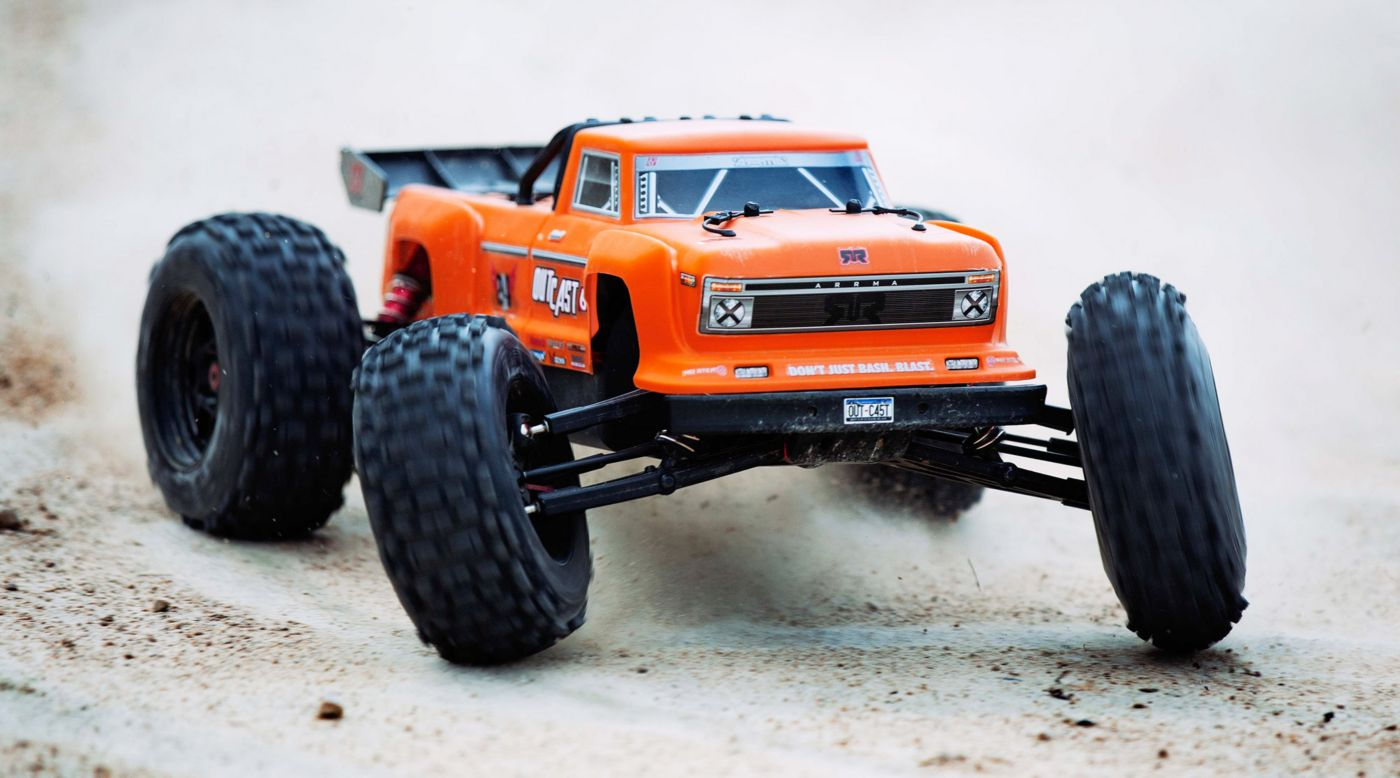 Image for 1/8 OUTCAST 6S BLX 4WD Brushless Truck RTR, Orange from HorizonHobby