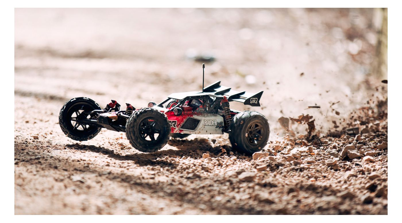 Image for 1/8 RAIDER XL 2WD Mega Brushed Buggy RTR, Red/White from HorizonHobby