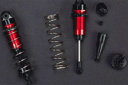 Tough Shock Design Including Heavy-Duty 4mm Shock Shafts