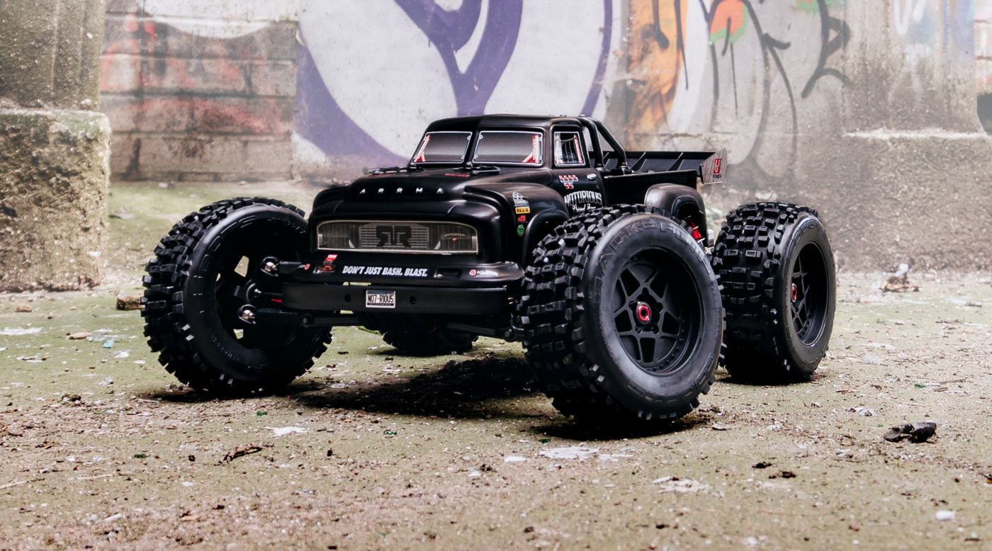 Image for 1/8 NOTORIOUS 6S BLX 4WD Classic Stunt Truck RTR, Black from HorizonHobby