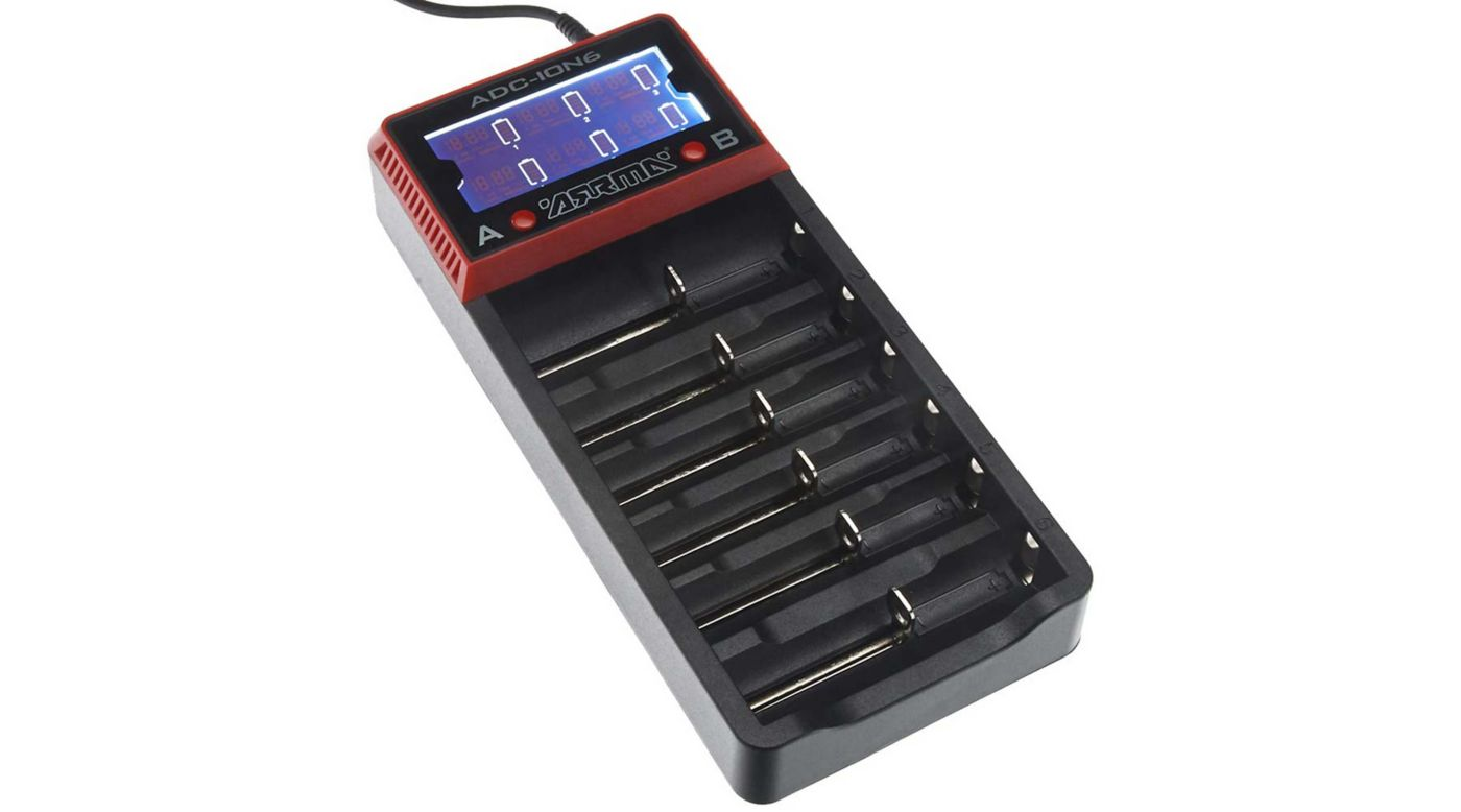 Image for AR390262 18650 Li-Ion 6-Bay Battery Charger from HorizonHobby