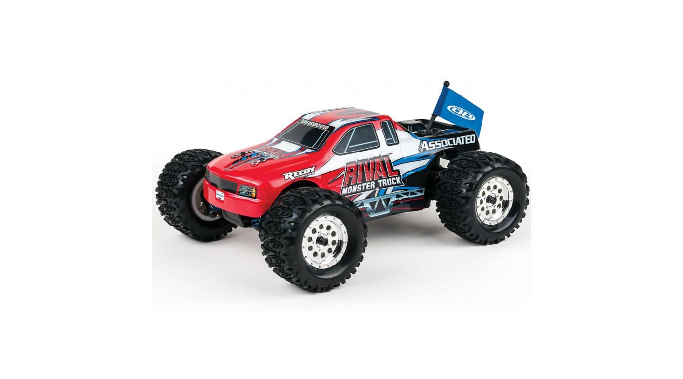 Image for 1/18 Rival 4WD Monster Truck Brushed RTR, Red from HorizonHobby