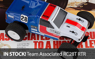 The RC28T Race Truck allows you to drive this replica around the corners, over the jumps, and across the finish line!