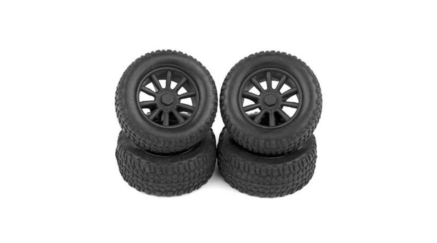 Image for 1/28 Front/Rear Pre-Mounted Tires (4): SC28 from HorizonHobby