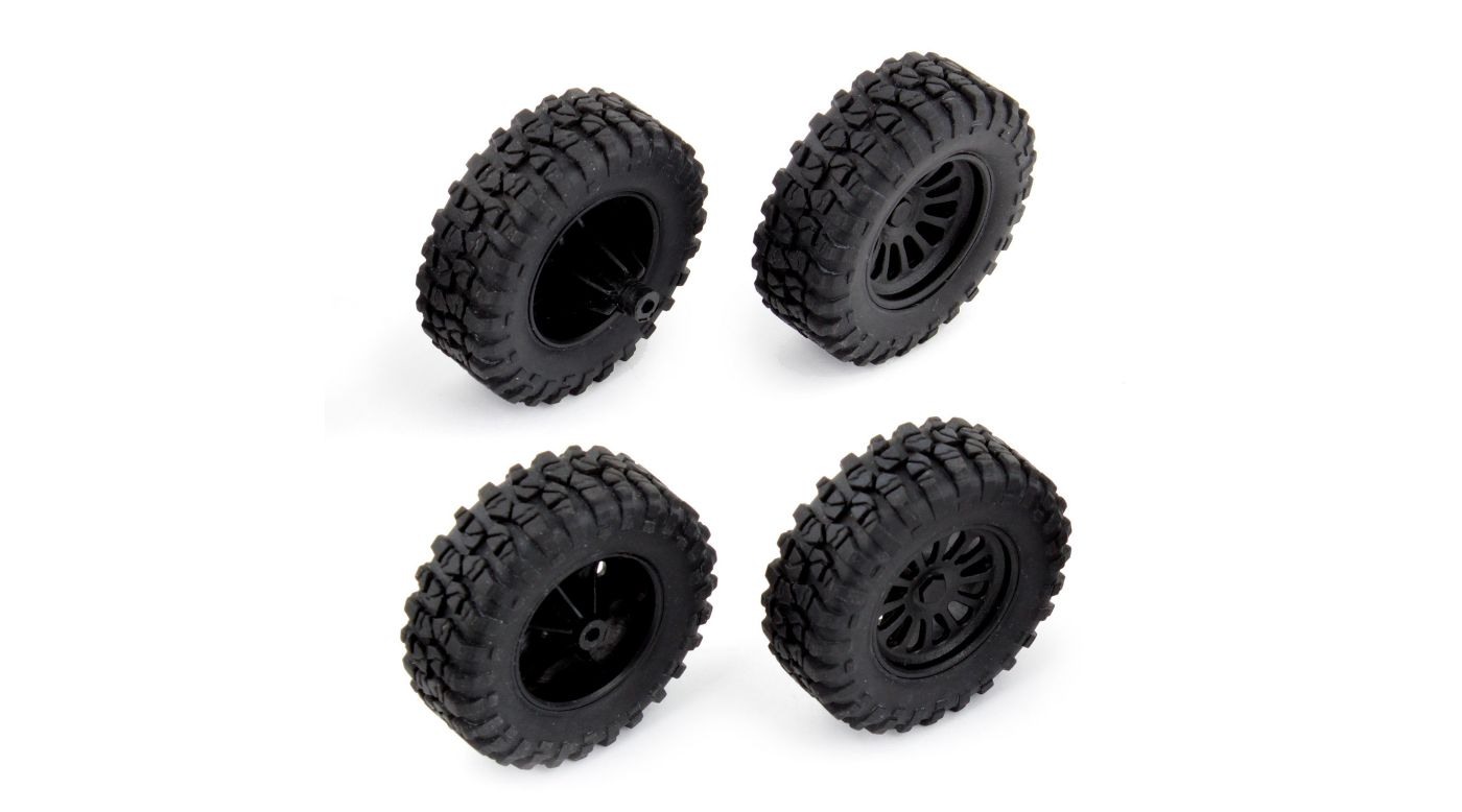 Image for MT28 Front Rear Wheels and Tires Mounted from HorizonHobby