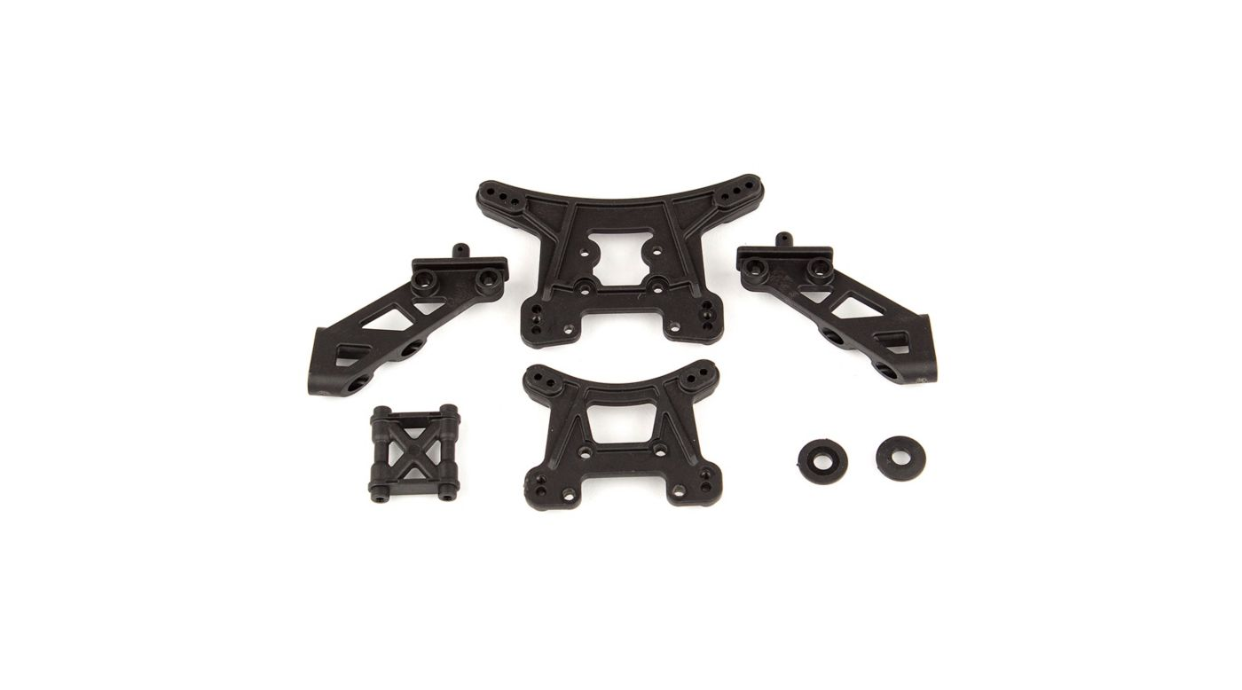 Image for Front and Rear Shock Towers & Wing Mounts: 14B, 14T from HorizonHobby