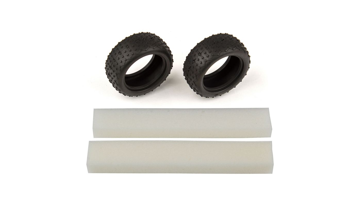 Image for Wide Mini Pin Tires with inserts: 14B 14T from HorizonHobby