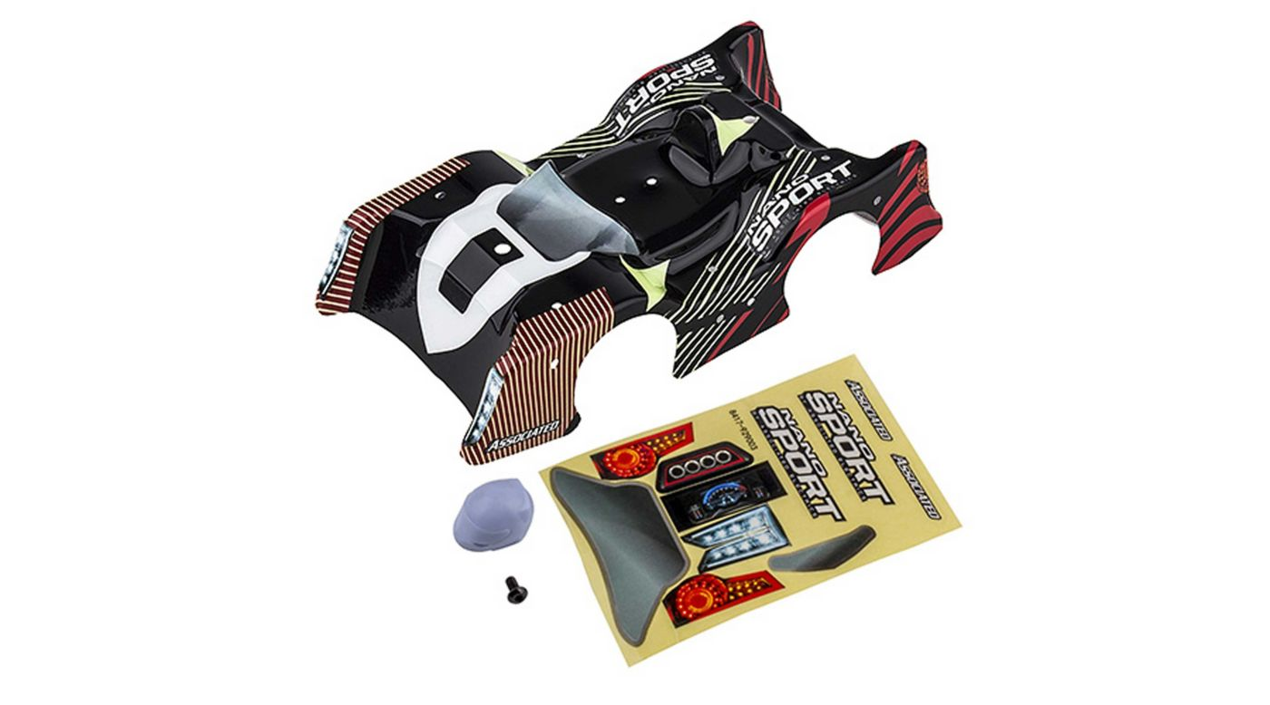 Image for NanoSport Body with Decals, Red/Black from HorizonHobby