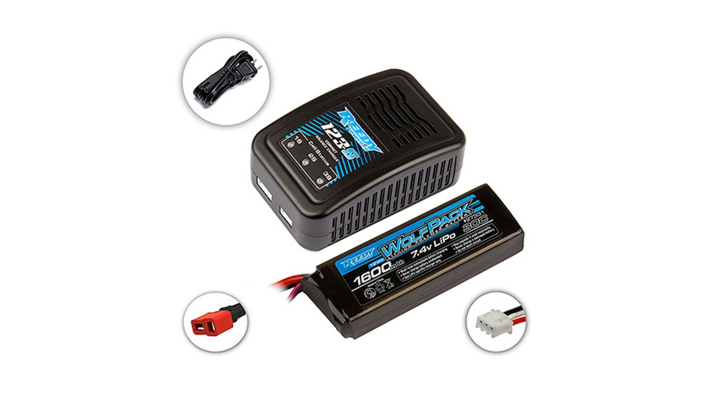 Image for Reedy 123-S Charger & Wolfpack 1600mAh 2S LiPo Combo from HorizonHobby