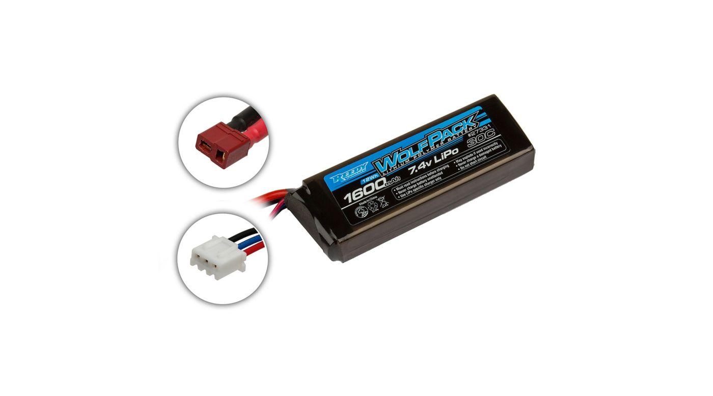 Image for 7.4V 1600mAh 2S 30C Reedy Wolfpack LiPo Battery: T-plug from HorizonHobby