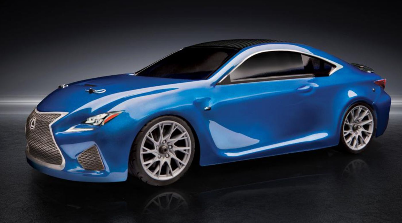 Image for 1/10 APEX Lexus RC F 4WD Touring Car Brushless RTR LiPo Combo, Blue from HorizonHobby