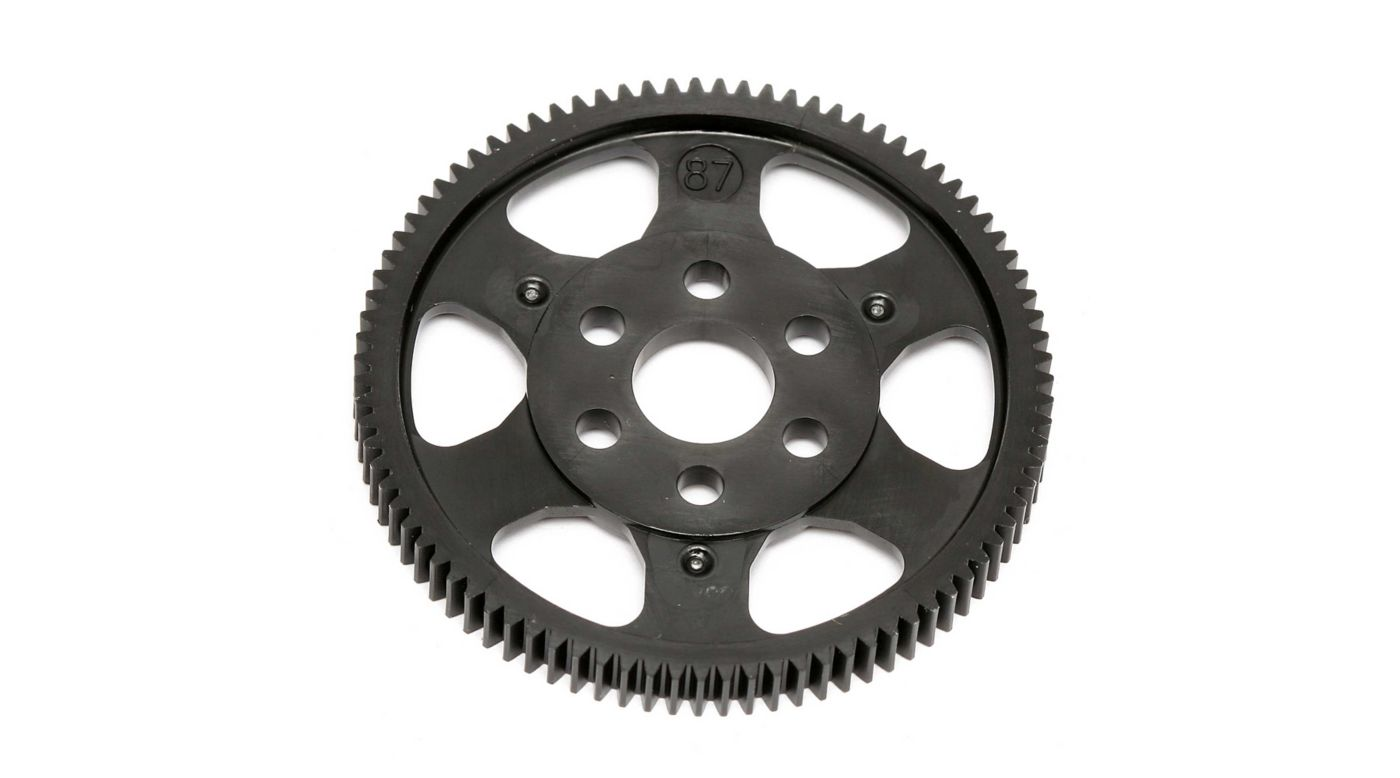 Image for 48 Pitch Spur Gear, 87T: TC6-7.1 from HorizonHobby